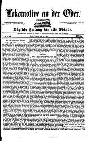 Lokomotive an der Oder vom 30.07.1876