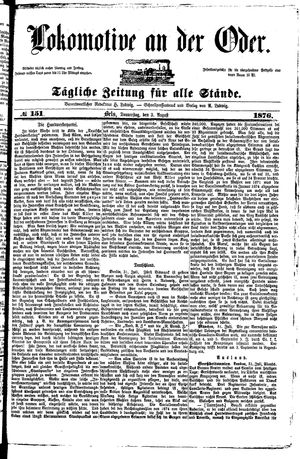 Lokomotive an der Oder on Aug 3, 1876