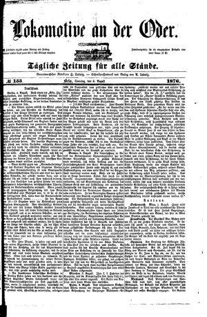 Lokomotive an der Oder vom 06.08.1876