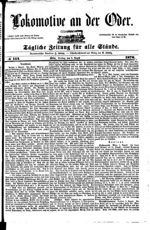 Lokomotive an der Oder vom 08.08.1876