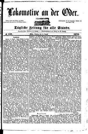 Lokomotive an der Oder vom 15.08.1876