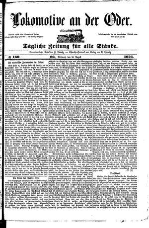 Lokomotive an der Oder vom 16.08.1876