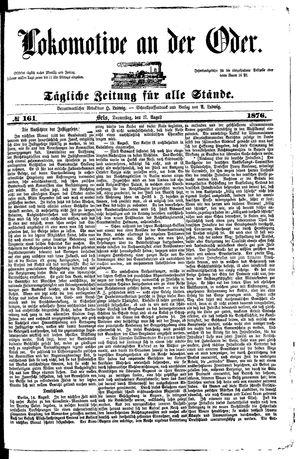 Lokomotive an der Oder vom 17.08.1876