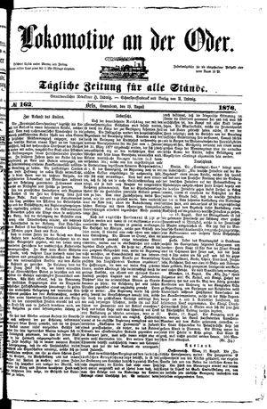 Lokomotive an der Oder vom 19.08.1876