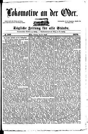 Lokomotive an der Oder vom 20.08.1876