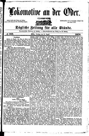 Lokomotive an der Oder vom 22.08.1876