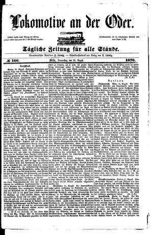 Lokomotive an der Oder vom 24.08.1876