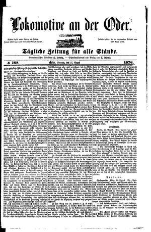 Lokomotive an der Oder on Aug 27, 1876