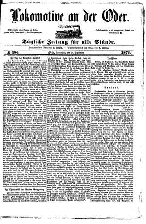 Lokomotive an der Oder vom 14.09.1876