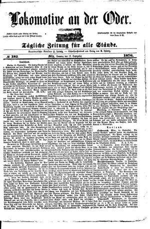 Lokomotive an der Oder vom 17.09.1876