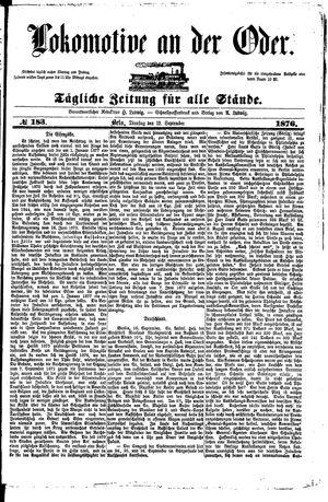 Lokomotive an der Oder vom 19.09.1876