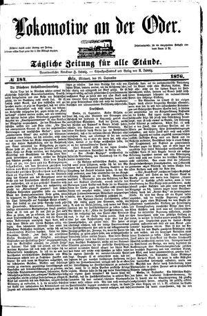 Lokomotive an der Oder vom 20.09.1876