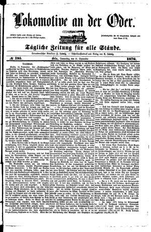 Lokomotive an der Oder vom 21.09.1876