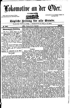 Lokomotive an der Oder vom 24.09.1876