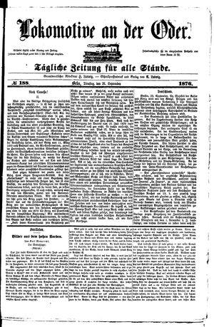 Lokomotive an der Oder vom 26.09.1876