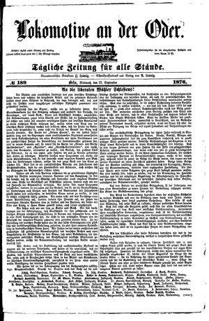 Lokomotive an der Oder vom 27.09.1876