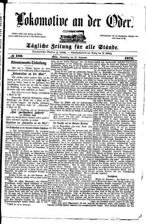 Lokomotive an der Oder vom 28.09.1876