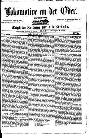 Lokomotive an der Oder vom 04.10.1876