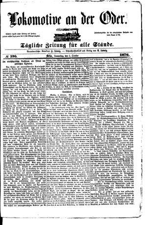 Lokomotive an der Oder vom 05.10.1876