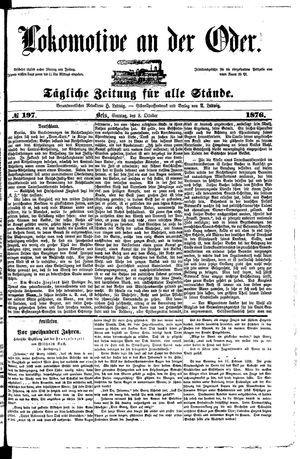 Lokomotive an der Oder vom 08.10.1876