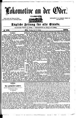 Lokomotive an der Oder vom 10.10.1876