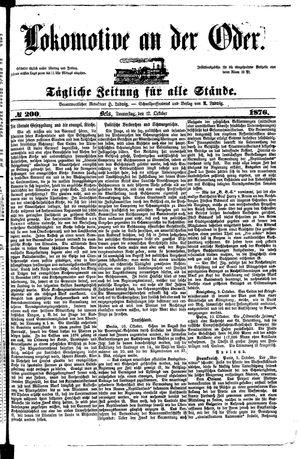 Lokomotive an der Oder vom 12.10.1876