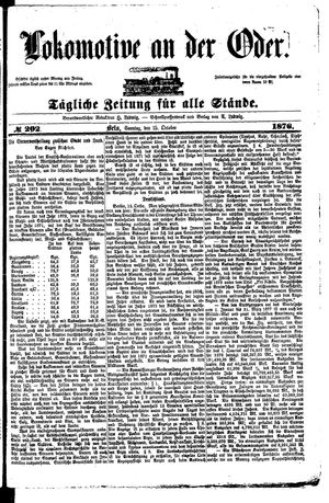 Lokomotive an der Oder vom 15.10.1876