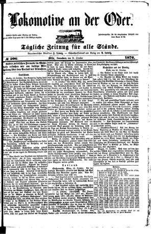 Lokomotive an der Oder vom 21.10.1876