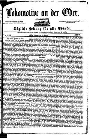 Lokomotive an der Oder vom 31.10.1876