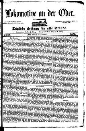 Lokomotive an der Oder vom 01.11.1876