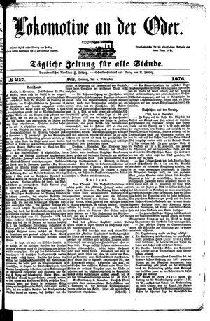 Lokomotive an der Oder on Nov 5, 1876