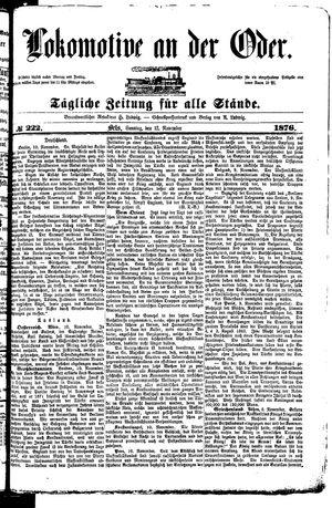 Lokomotive an der Oder on Nov 12, 1876