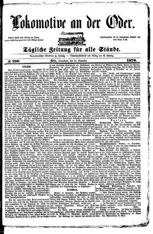 Lokomotive an der Oder vom 18.11.1876