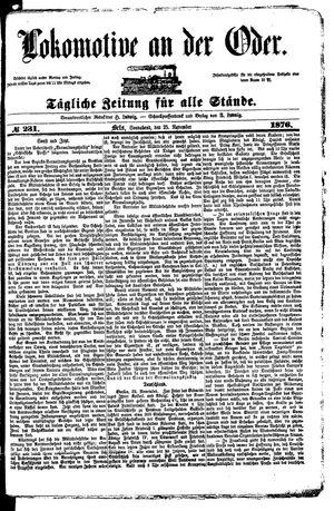 Lokomotive an der Oder vom 25.11.1876