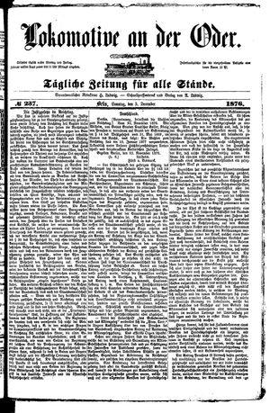 Lokomotive an der Oder vom 03.12.1876