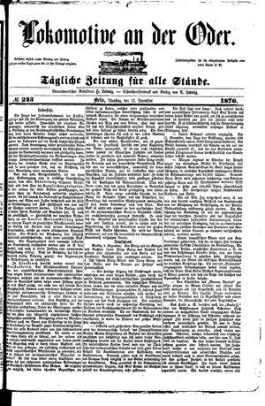 Lokomotive an der Oder vom 12.12.1876
