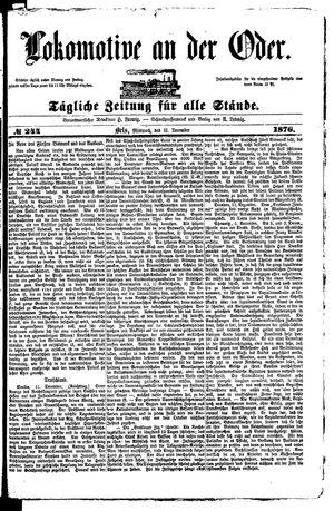 Lokomotive an der Oder vom 13.12.1876