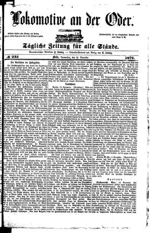 Lokomotive an der Oder vom 14.12.1876