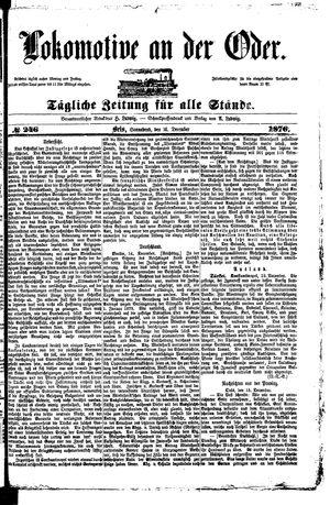 Lokomotive an der Oder vom 16.12.1876