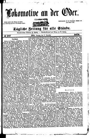 Lokomotive an der Oder vom 17.12.1876