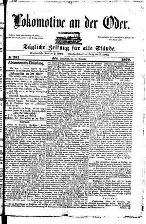 Lokomotive an der Oder vom 23.12.1876