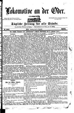 Lokomotive an der Oder vom 31.12.1876