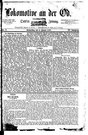Lokomotive an der Oder vom 03.01.1878