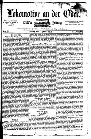 Lokomotive an der Oder vom 04.01.1878