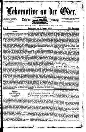 Lokomotive an der Oder vom 05.01.1878
