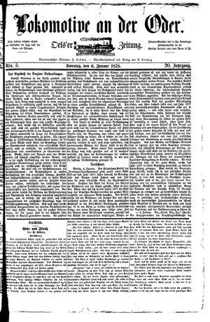 Lokomotive an der Oder vom 06.01.1878