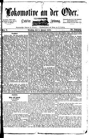 Lokomotive an der Oder vom 08.01.1878