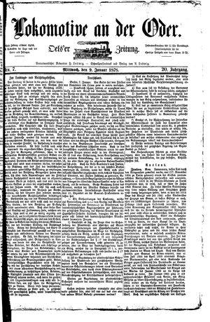Lokomotive an der Oder vom 09.01.1878