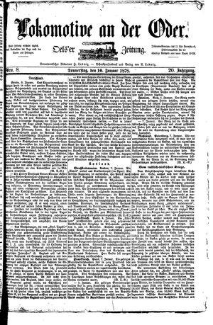 Lokomotive an der Oder vom 10.01.1878