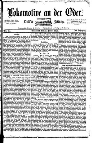Lokomotive an der Oder vom 12.01.1878